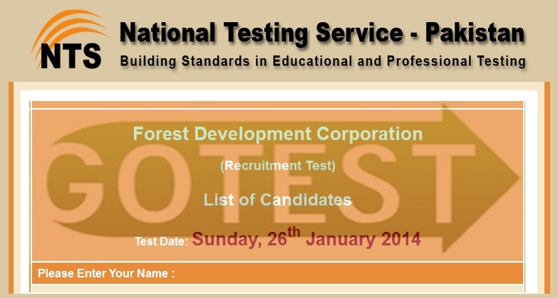 Forest Development Corporation Recruitment NTS Test Online Results Preparation Sample Model Paper