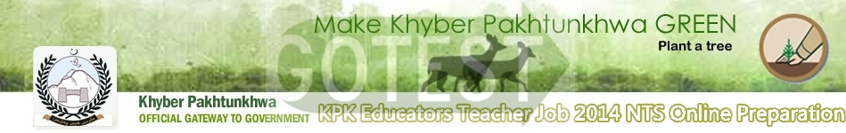 KPK Educators Jobs 2014 NTS Test Schedule and Dates