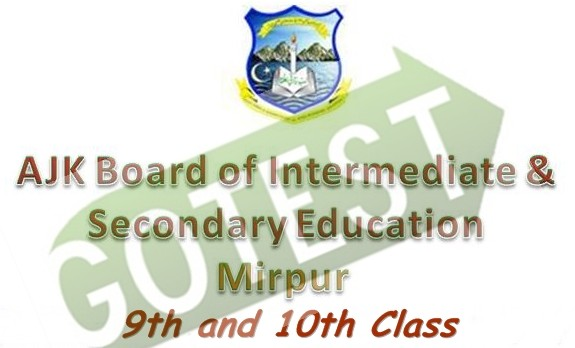BISE AJK 9th and 10th Class Examination Date Sheet 2016