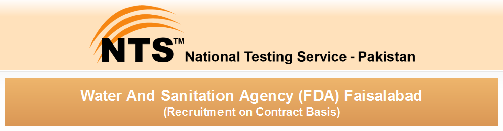 WASA FDA Faisalabad Jobs NTS Test Preparation Online Application Form & Eligibility