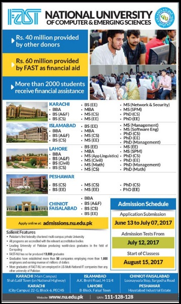 Fast Admissions open 2017