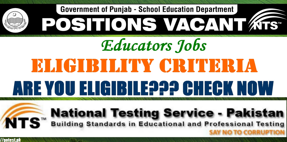 NTS Educators Jobs Online Test Mcqs and Sample Papers Notes for