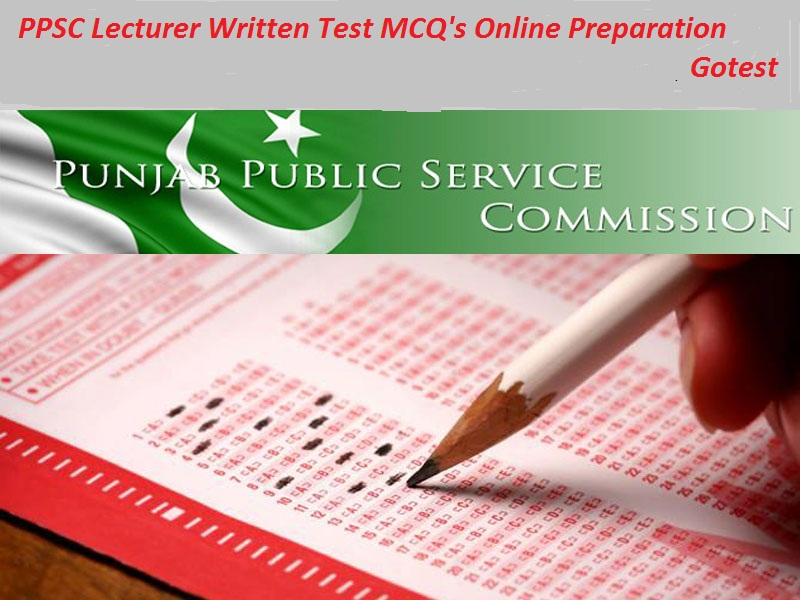 PPSC lecturer written test preparation