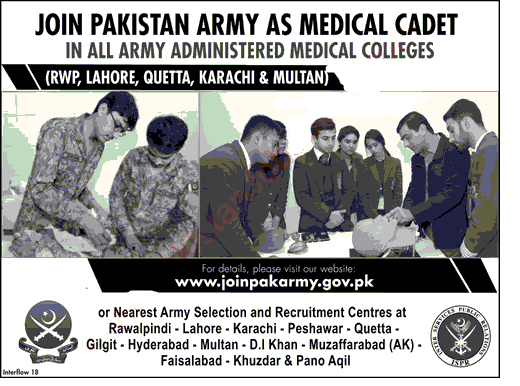 Join Pak Army as Medial College 2018