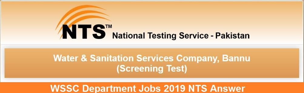 KPK WSSC Department Jobs 2019 NTS Answer Key Result Candidates List