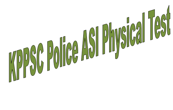 KPPSC Police ASI Jobs 2019 Physical Test Schedule and Candidate List