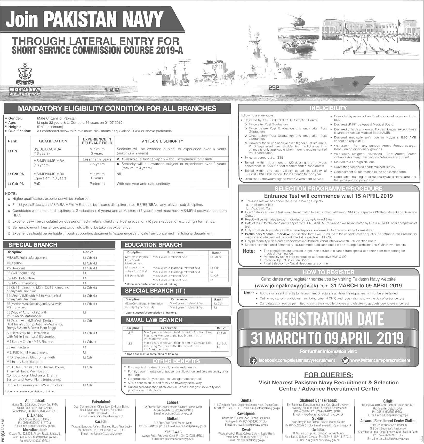 Join Pak Navy 2021 Through Short Service Commission Course Online Registration
