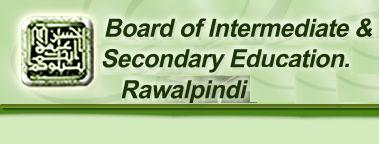 BISE Rawalpindi Board Date Sheet for Matric Examinations 2016