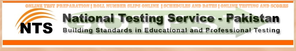 NTS NAT Test Roll No Slips 2016 Download Online