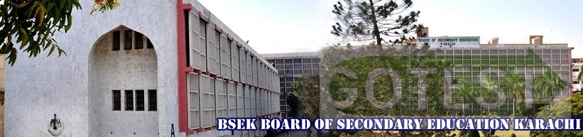 BSEK Karachi Board Matric 9th 10th Class Date Sheets