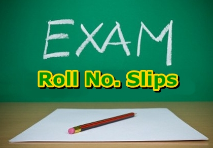 Punjab Boards Inter (11th 12th) Class Roll No Slips 2016