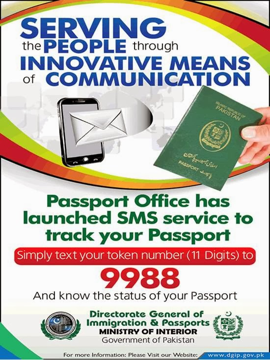 Track Your Pakistani Passport Status Via SMS