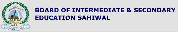 BISE Sahiwal Board 11th 12th Class Roll No Slips 2016 Online Download