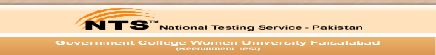 GCWU Faisalabad Recruitment NTS Test 2014 Online Preparations Eligibility Result and Answer Key