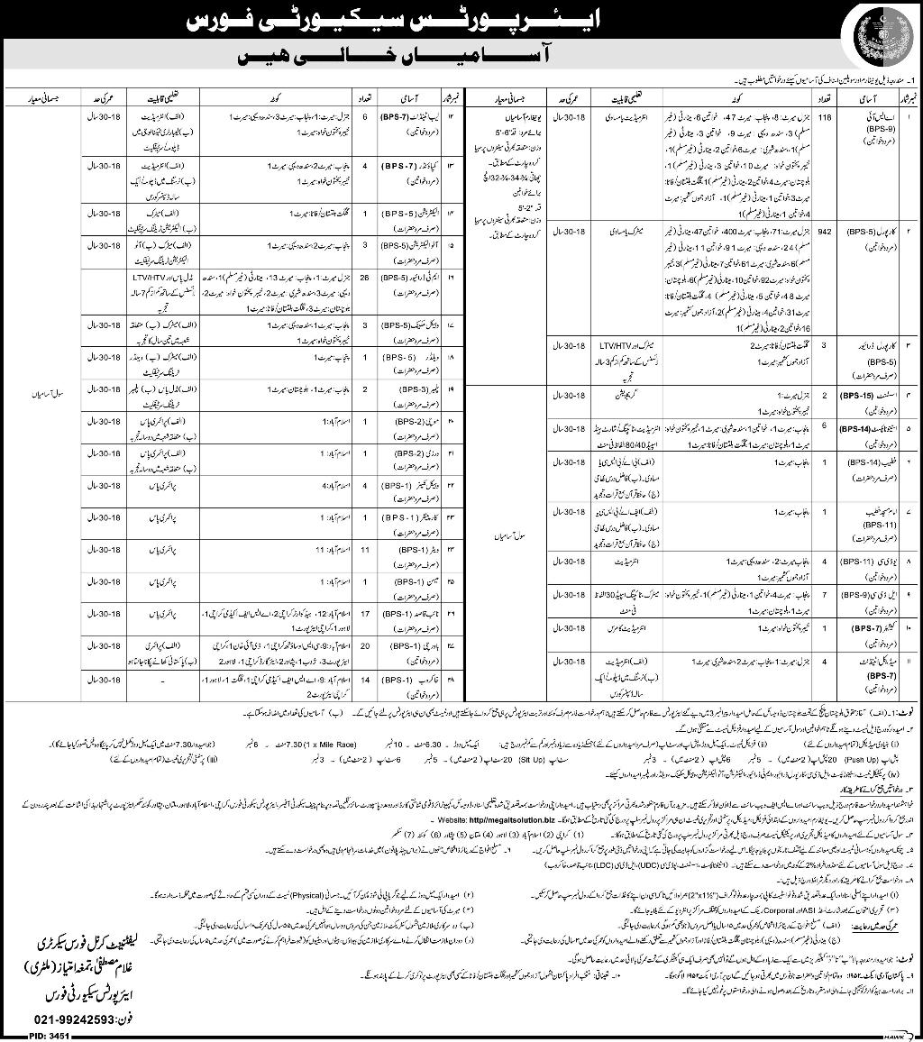 Airport Security Force ASF jobs 2017