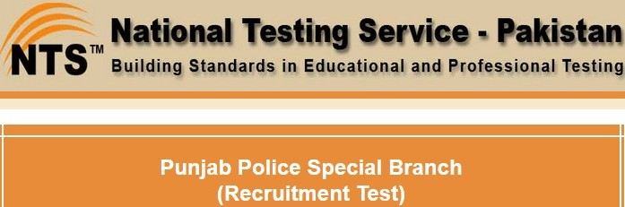 Punjab Police Special Branch Jobs NTS Test 2016 Result