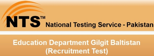 Gilgit Baltistan Education Department Teachers Jobs NTS Test 2016
