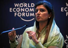 DAVOS/SWITZERLAND, 26JAN12 - Hina Rabbani Khar, Minister of Foreign Affairs of Pakistan is captured during the session 'The Future of South Asia' at the Annual Meeting 2012 of the World Economic Forum in the congress center in Davos, Switzerland, January 26, 2012. Copyright by World Economic Forum swiss-image.ch/Photo by Remy Steinegger