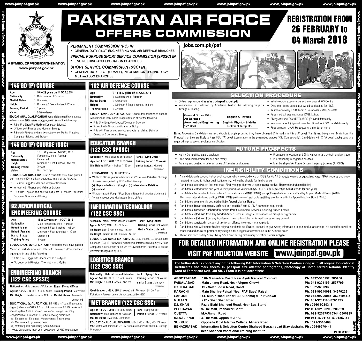 Join PAF Jobs 2018