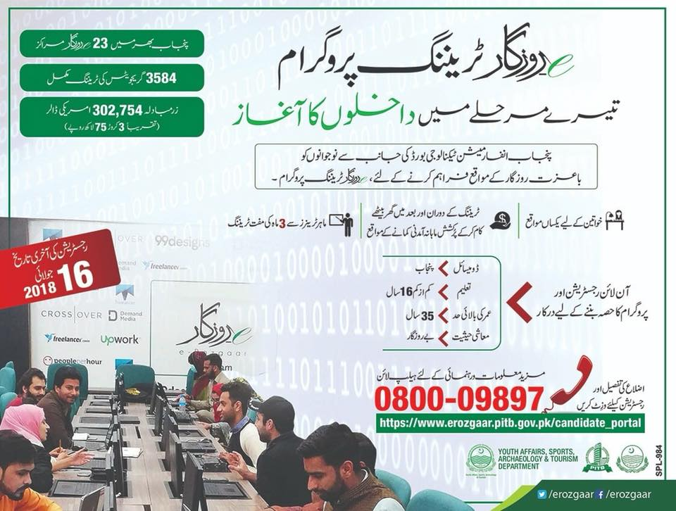 E-rozgaar training program 2018