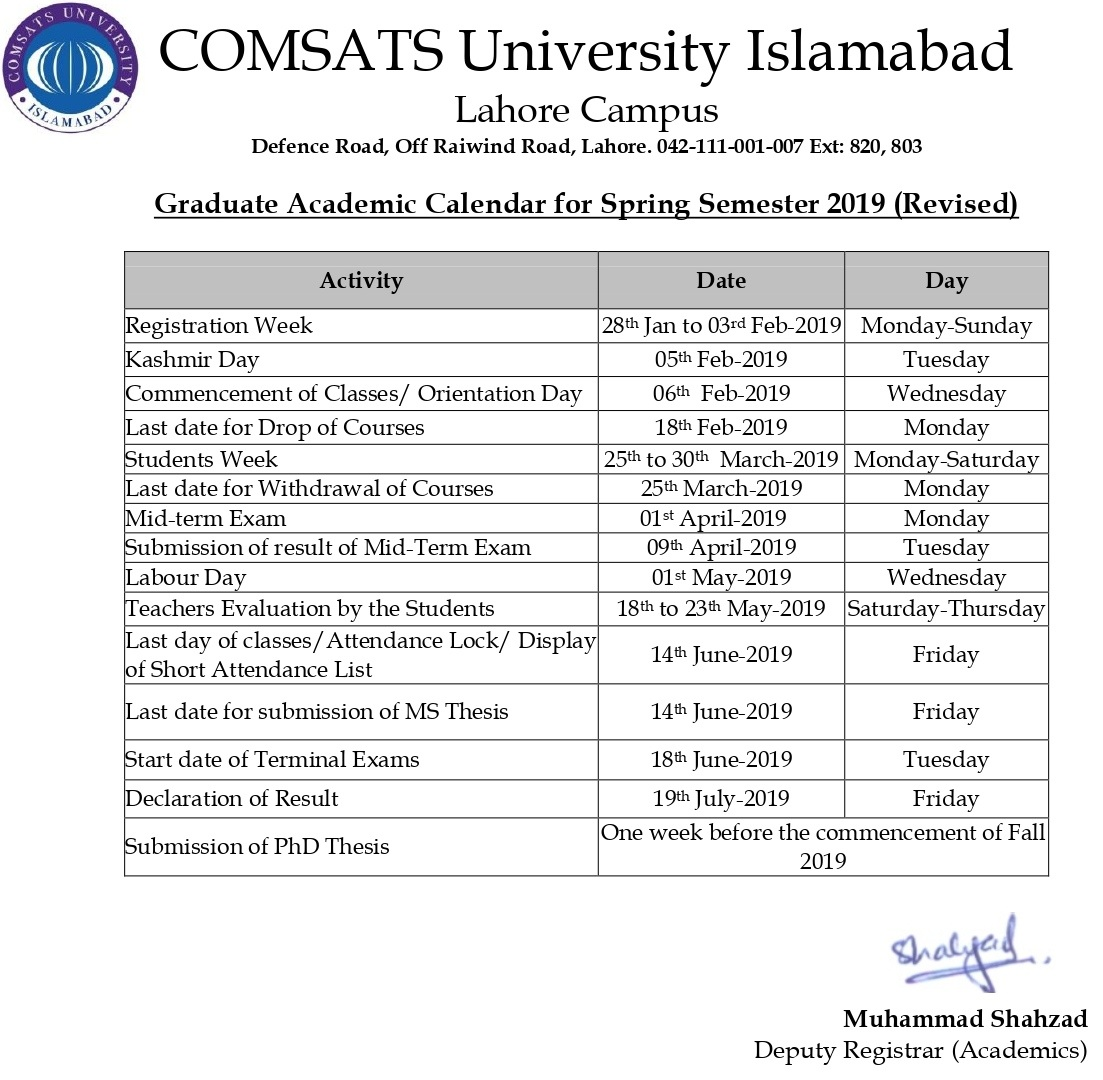 COMSATS NTS Entry Test 2019 Online Preparation MCQS Sample Papers Date Schedule