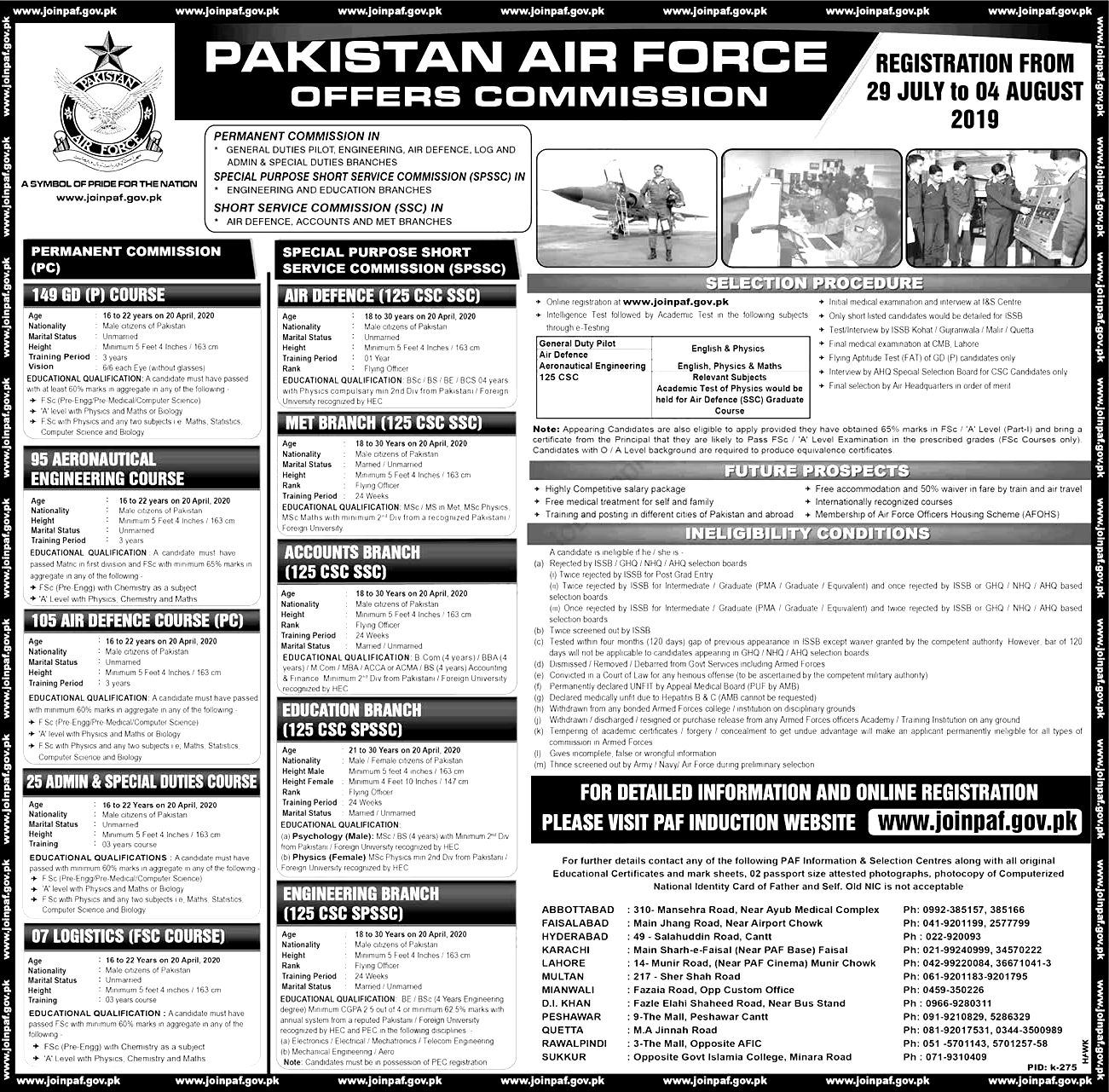 Join PAF Jobs 2019 As Civilian Apply Online Registration