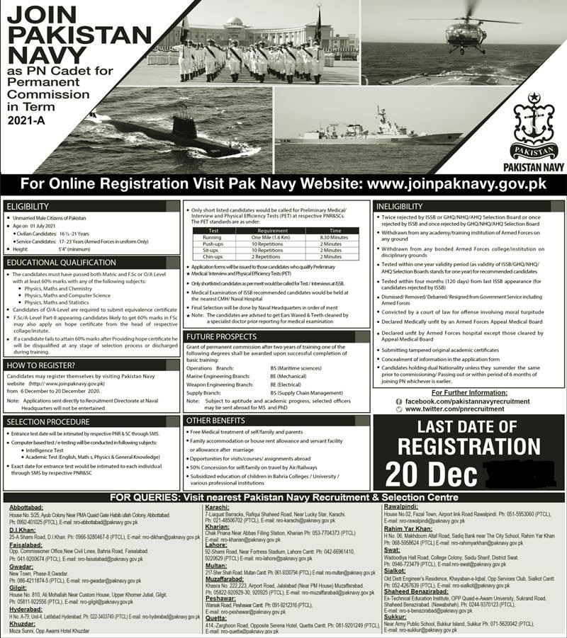 Join Pak Navy as Commissioned Officer 2021 Online Test Preparation