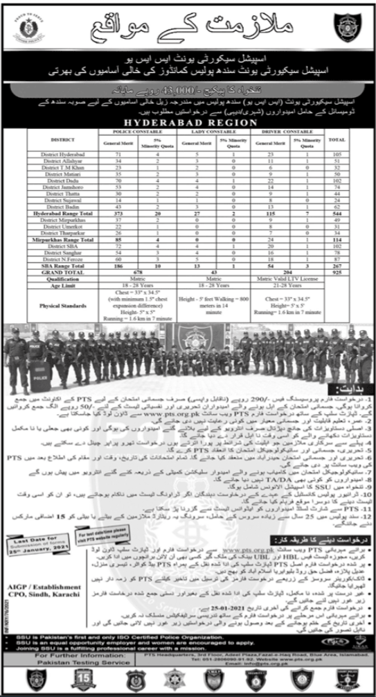 Karachi Police Jobs 2021 Selected Candidates Lists and Interviews Schedules