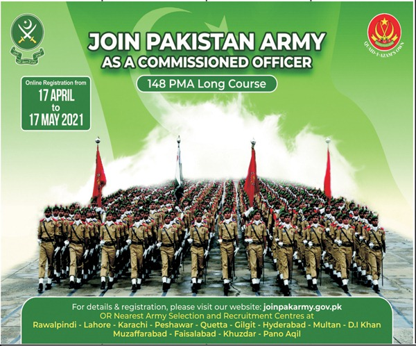 Join Pak Army 147 PMA Long Course as Commission Officer Registration Preparation Initial