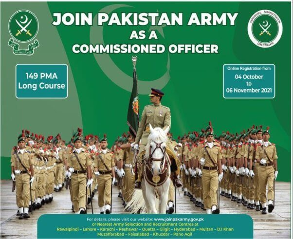 Join Pak Army 149 PMA Long Course 2021 Registration Online